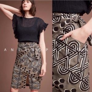 Anthropologie Maeve Tribal Print Wrap Skirt